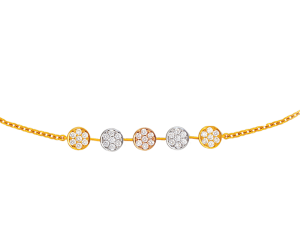 Tri Color Diamond Bracelet