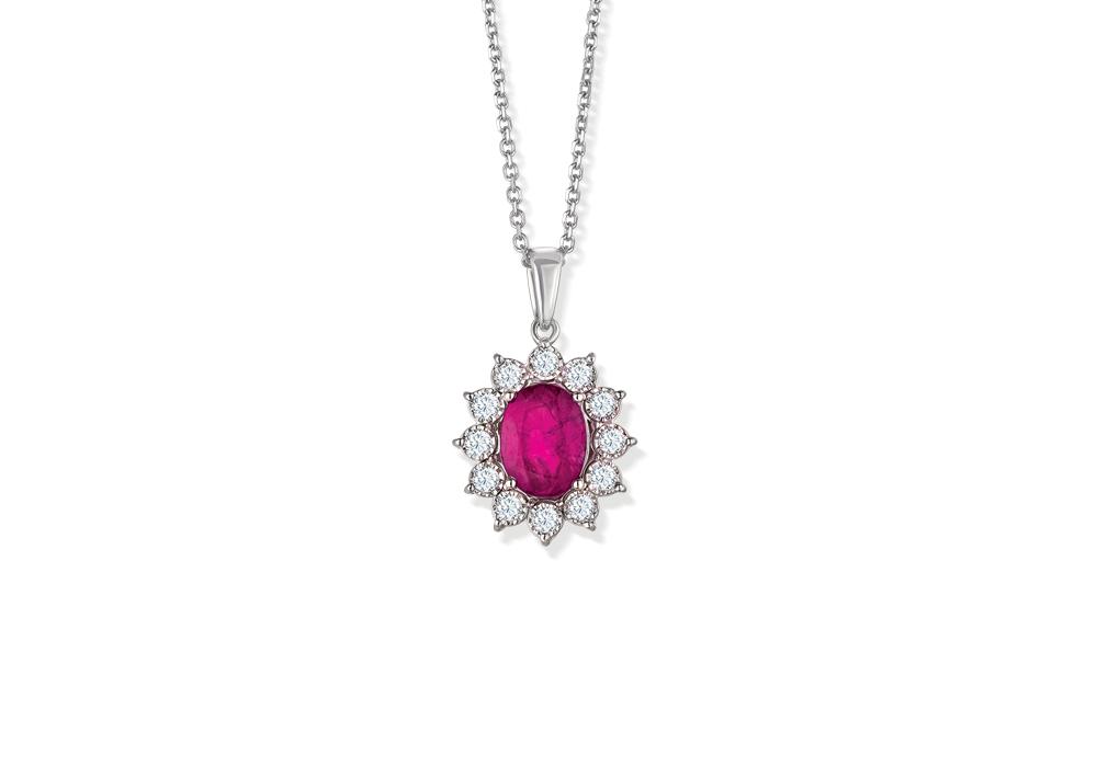 Classic Diana Ruby Pendant Chain