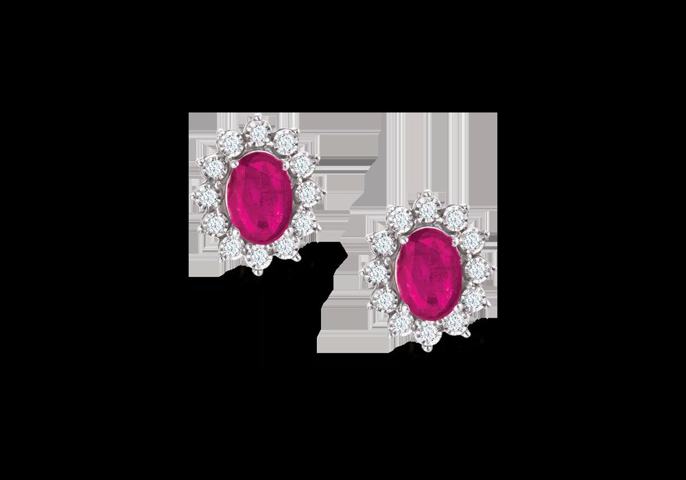 Classic Diana Ruby Earring