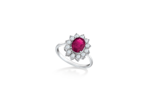 Classic Diana Ruby Ring