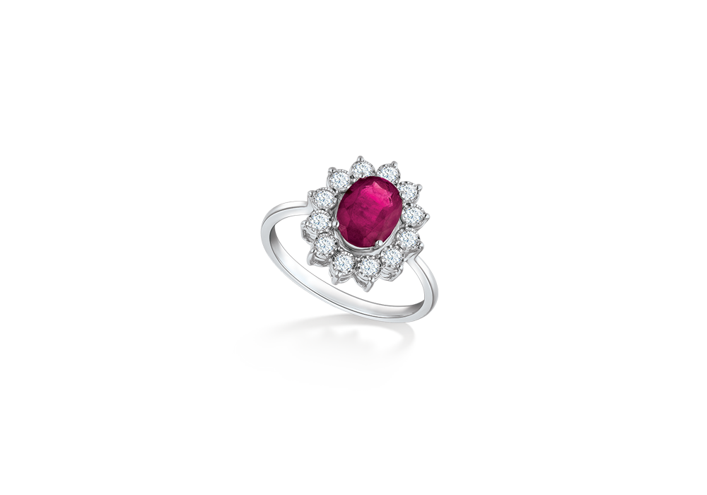 Classic Diana Ruby Ring