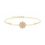 Fancy Diamond Bracelet in Yellow Gold