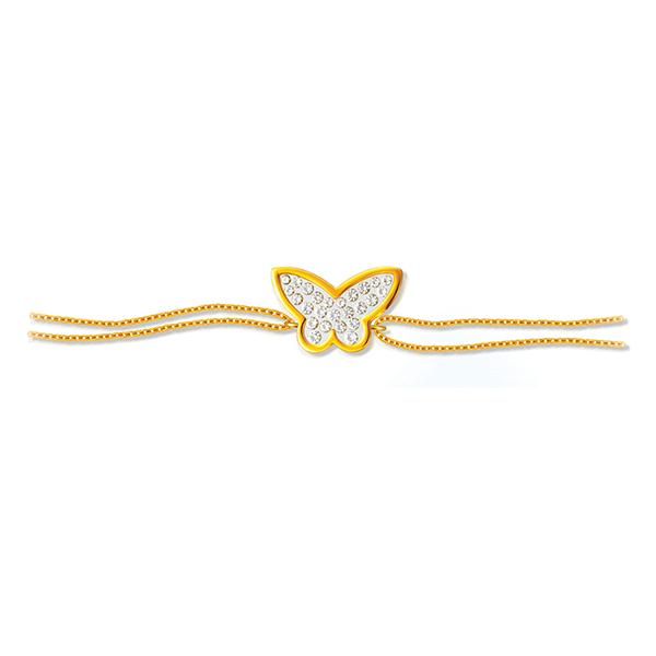 Floating Diamonds Butterfly Design Bracelet