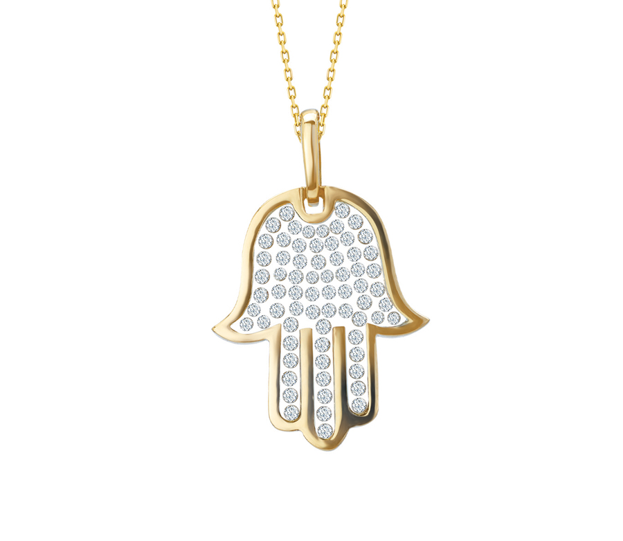 Floating Stone Collection CZ Fatima Hand