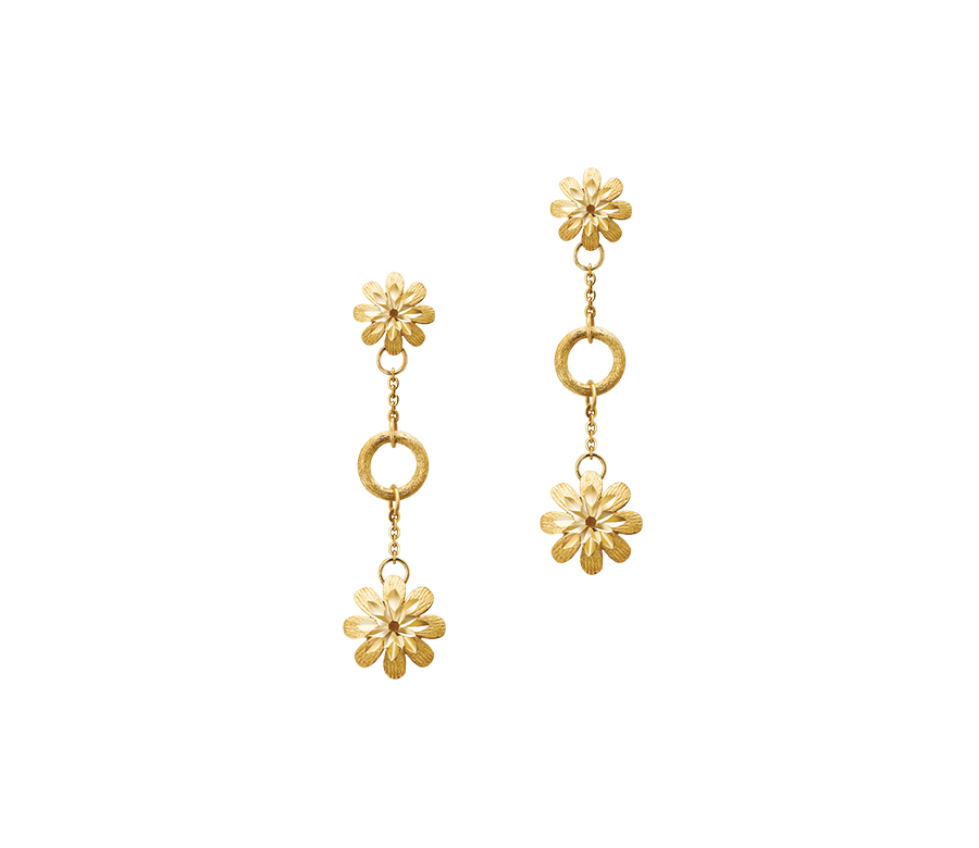 Gold Collection Flower Earring