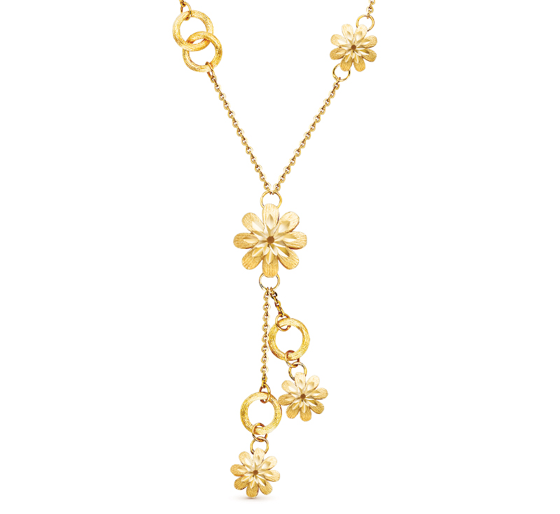 Gold Collection Flower Necklace