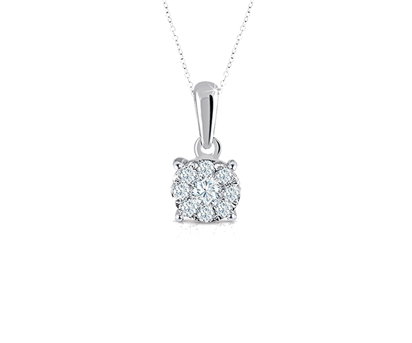 Look Alike Solitaire Pendant Chain