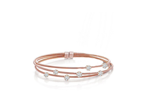 Three Line Cable Bangle