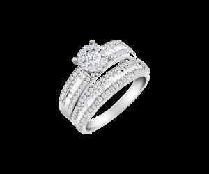 Diamond Twin Ring