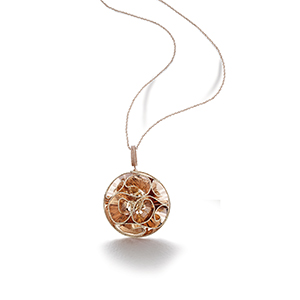Ball Laser Cut Pendant Chain