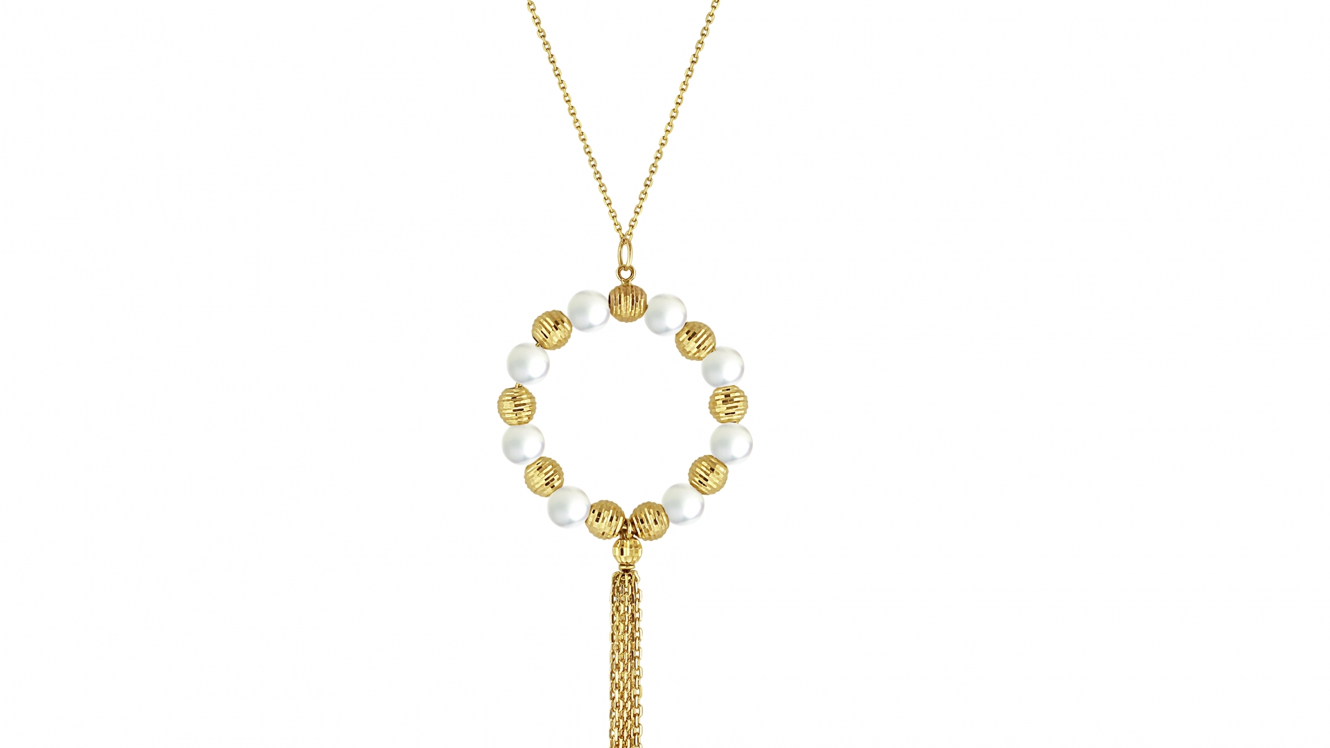 Round Shape Long Necklace