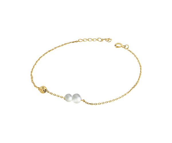 Pearl with 18K YG Chain & Beads