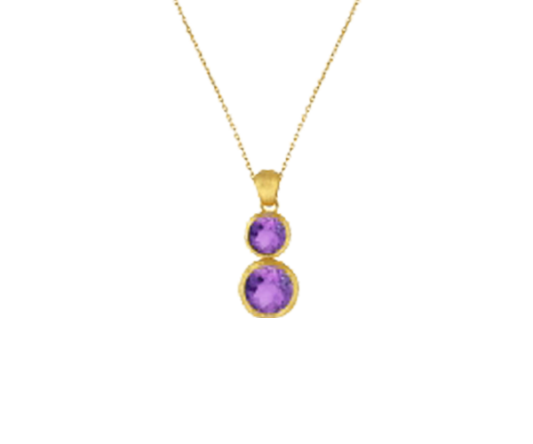 Semi Precious Colour  Stone Pendant Chain