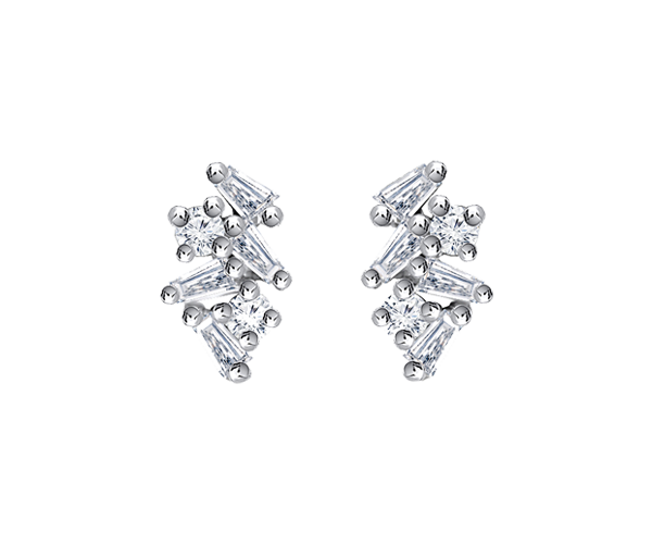 Baguette Diamond Earing