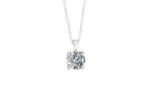 Diamond Solitaire Pendant Chain