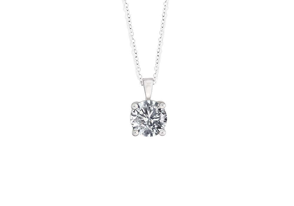 Diamond Solitaire pendant Chain