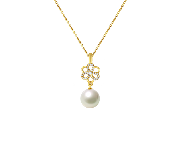 Flower With Fresh water Pearl Pendant Chain