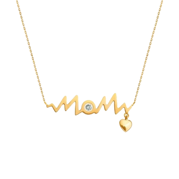 HEART BEAT MOM NECKLACE