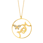 Mom and Butterfly Pendant Chain