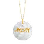 MOTHER OF PEARL MOM PENDANT CHAIN