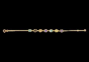 Bracelet with Multi Color Semi Precious Stones