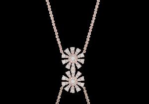 Flower Design Diamond Pendant Chain