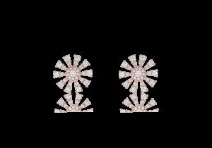 Flower Design Diamond Earring