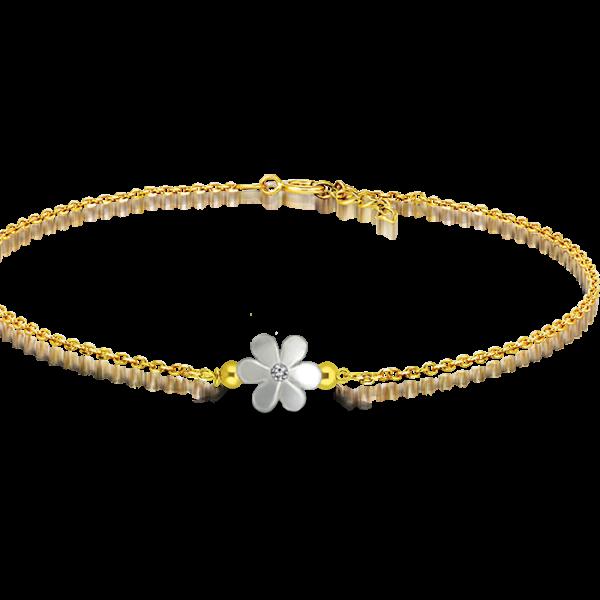 White mother of pearl flower bracelet