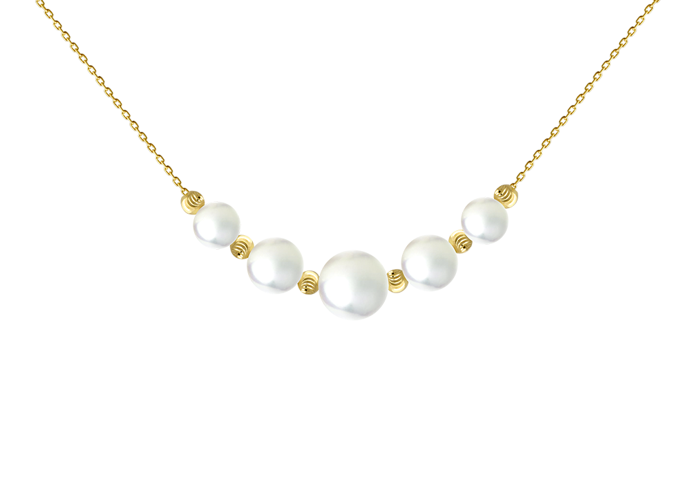 Five Pearl Six Beads necklace