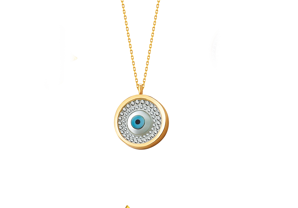 Round Evil Eye Necklace
