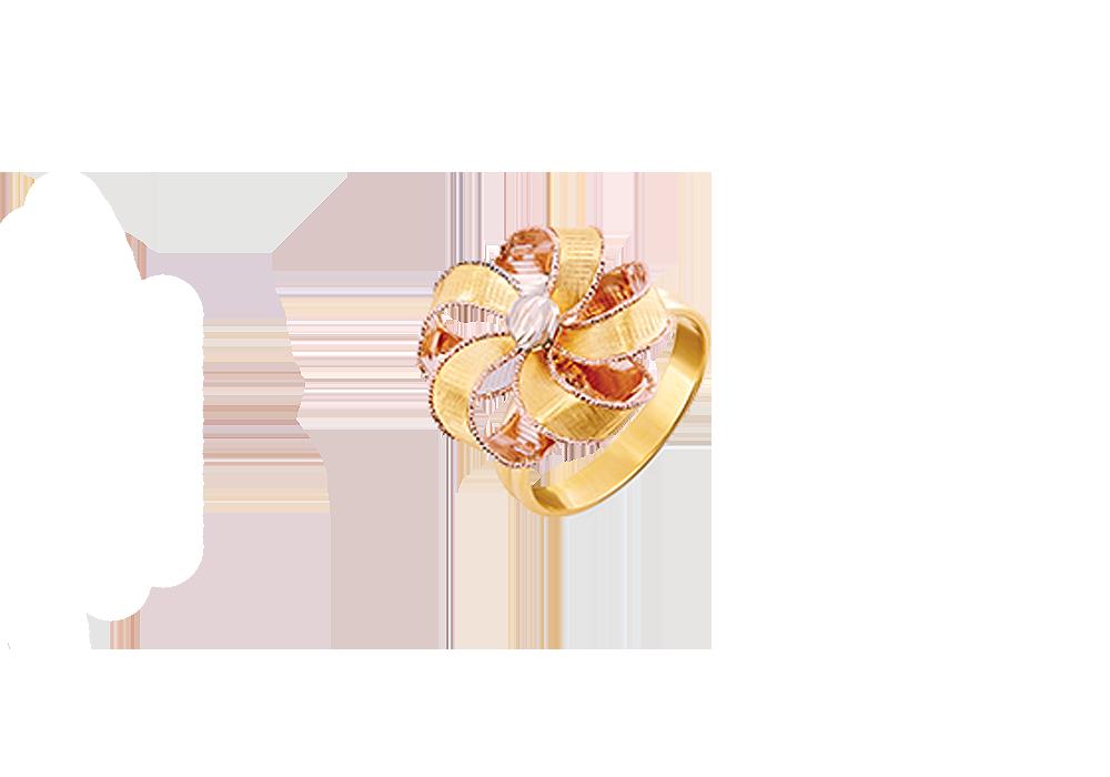 Ribbon Flower Design 18k Gold Ring
