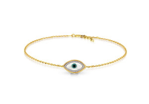 CZ with Evil eye Bracelet