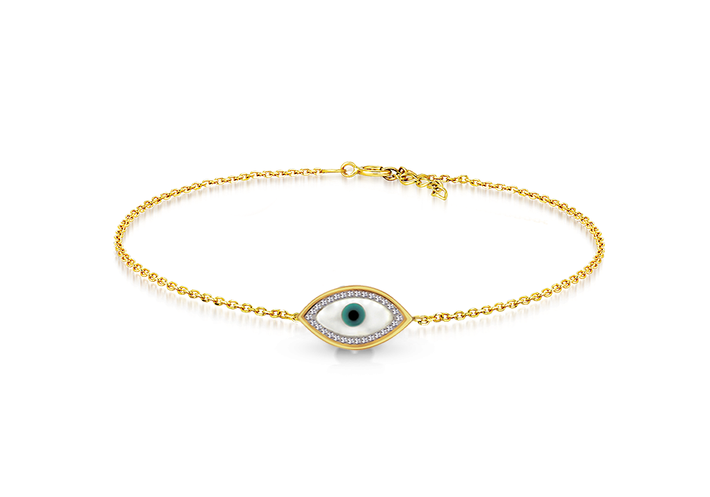 CZ with Evil eye Bracelet