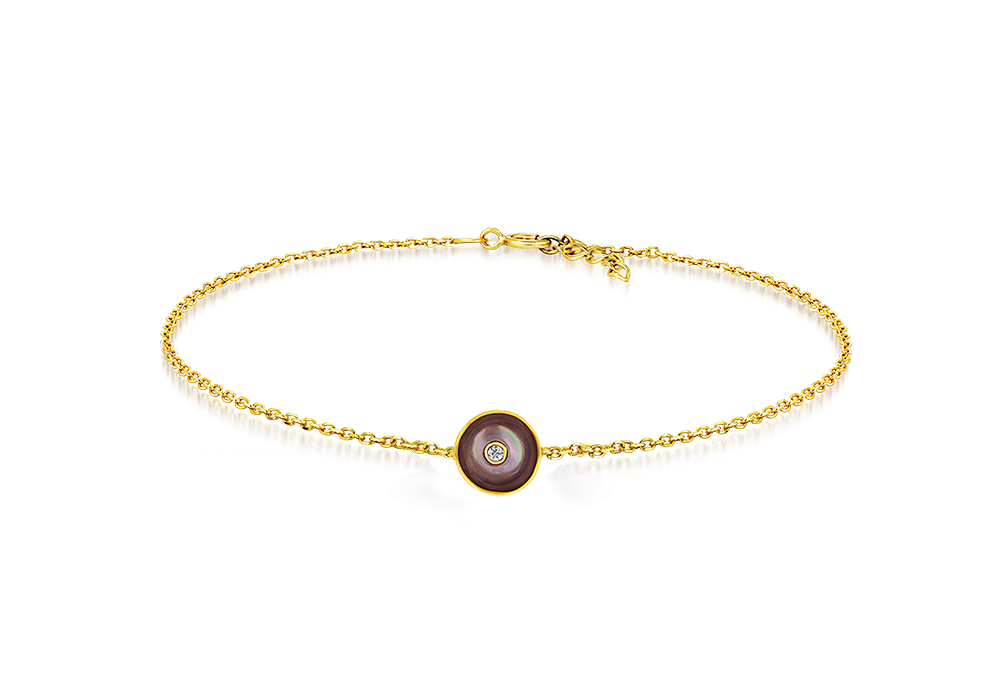 Mother of pearl with CZ bracelet