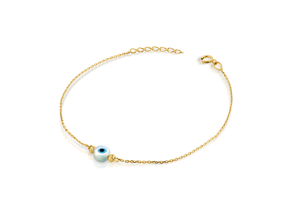 Small Evil eye with bead bracelet