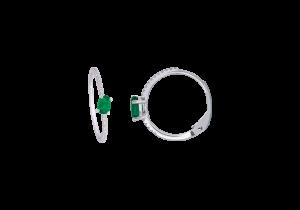 Emerald and Diamond Hoop earring