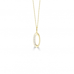 O' Alphabet Pendant chain with Diamonds