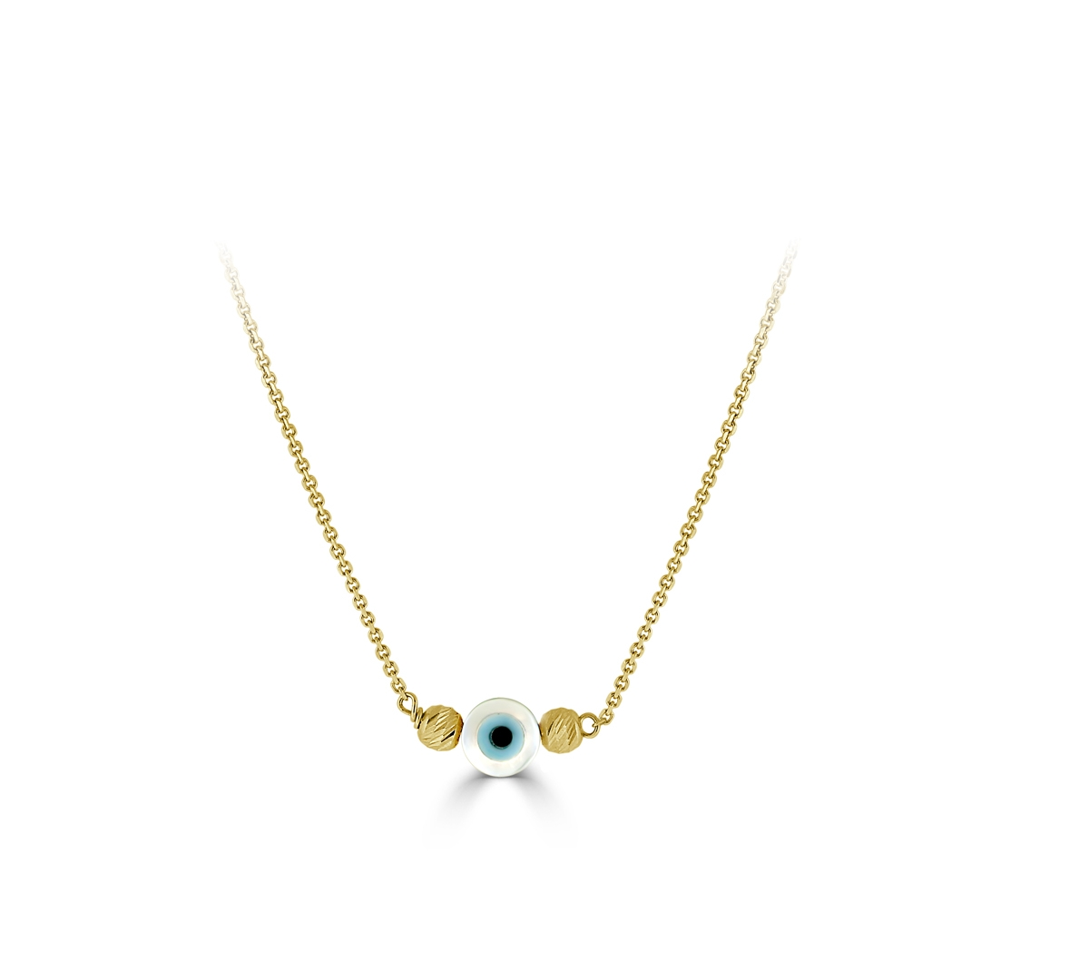 Small Evil eye with bead Necklace
