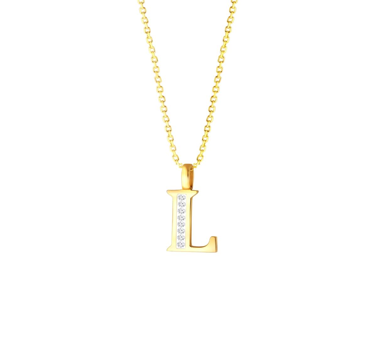 L' Alphabet Pendant chain with Diamonds