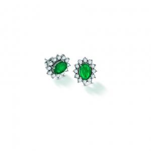 Classic Diana Emerald Earring