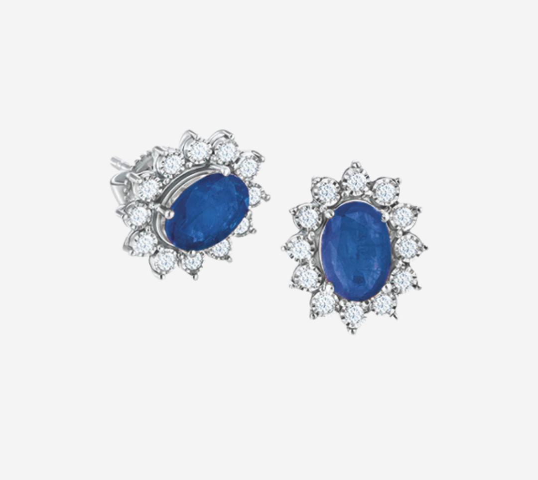 Classic Diana Blue Sapphire Earring