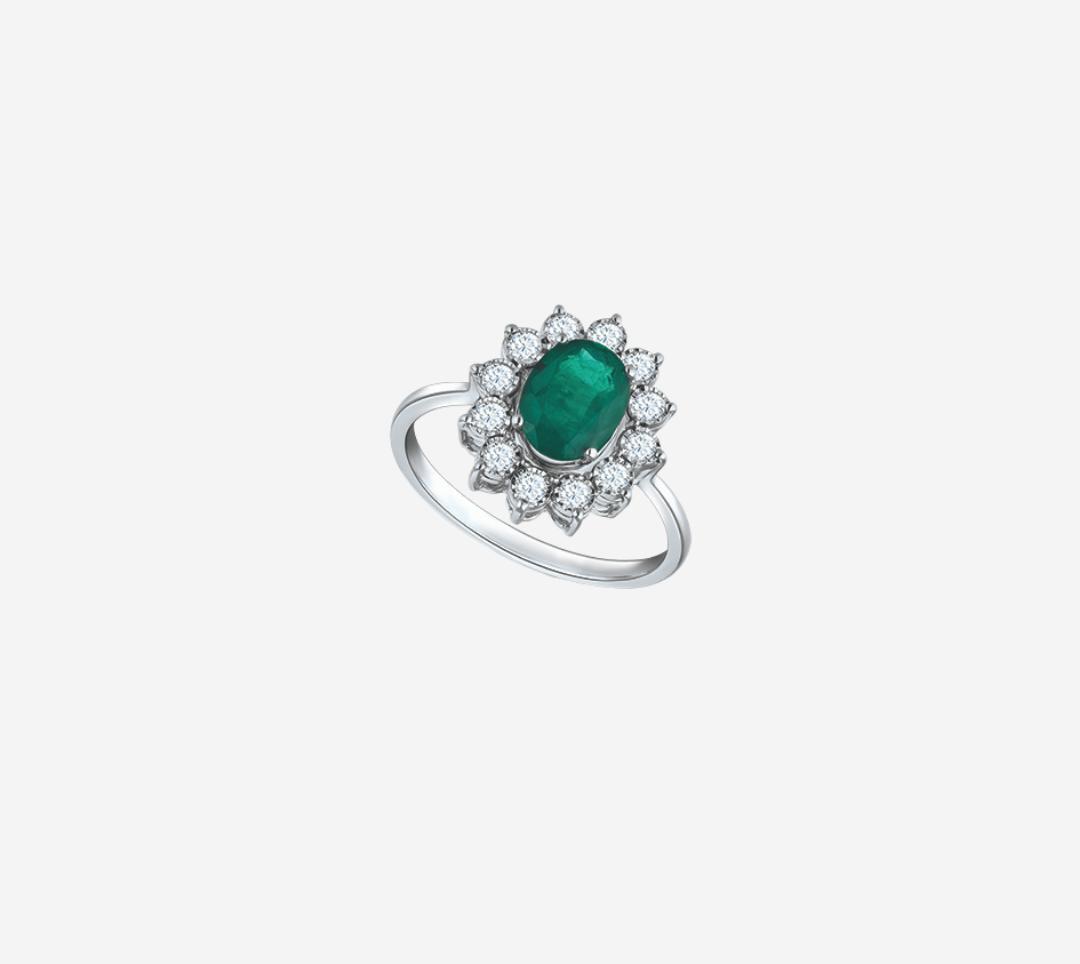 Classic Diana Emerald Ring