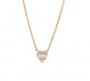 Baguette Heart Necklace