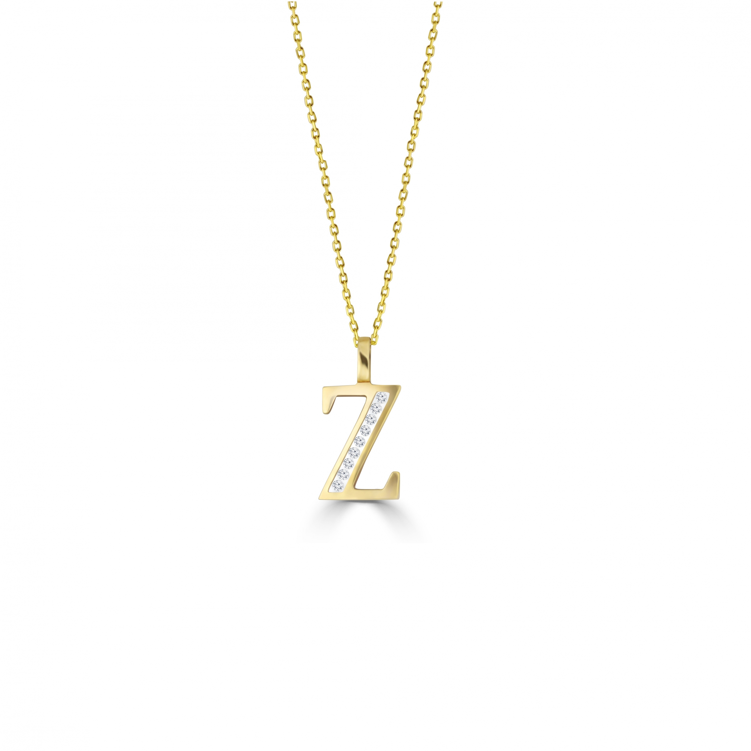 Z' Alphabet Pendant chain with Diamonds