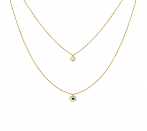 Evil Eye Step Chain Necklace