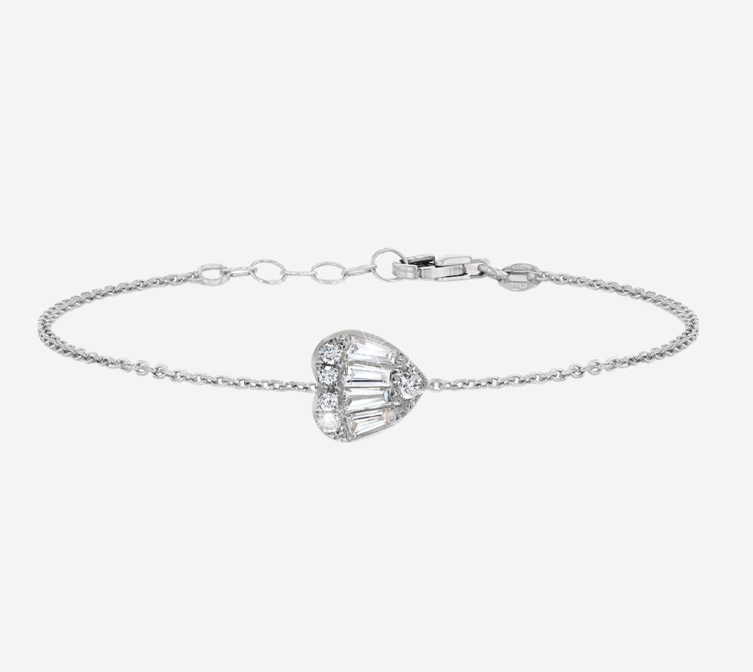 Baguette Heart Bracelet