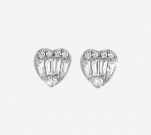 Baguette Heart Earring