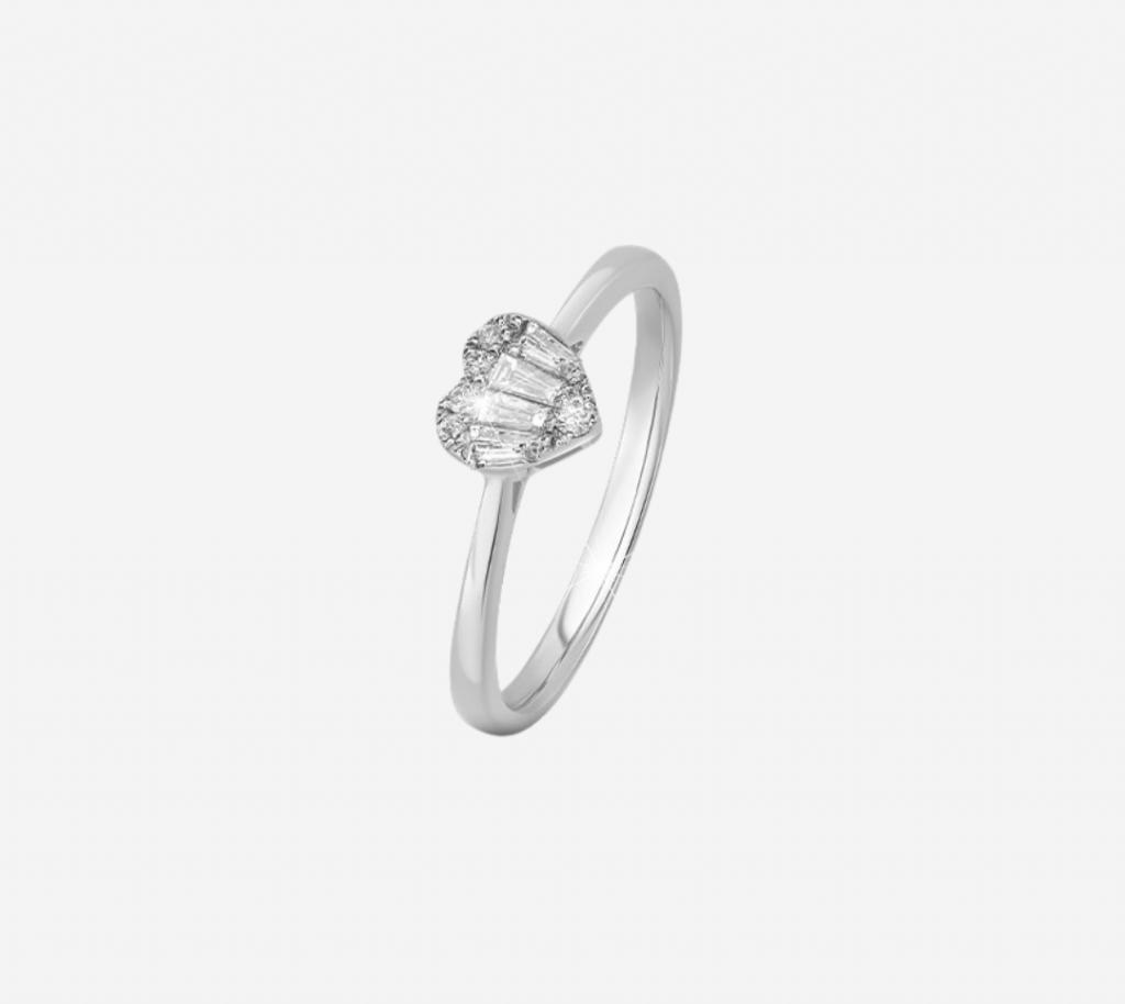 Baguette Heart Ring