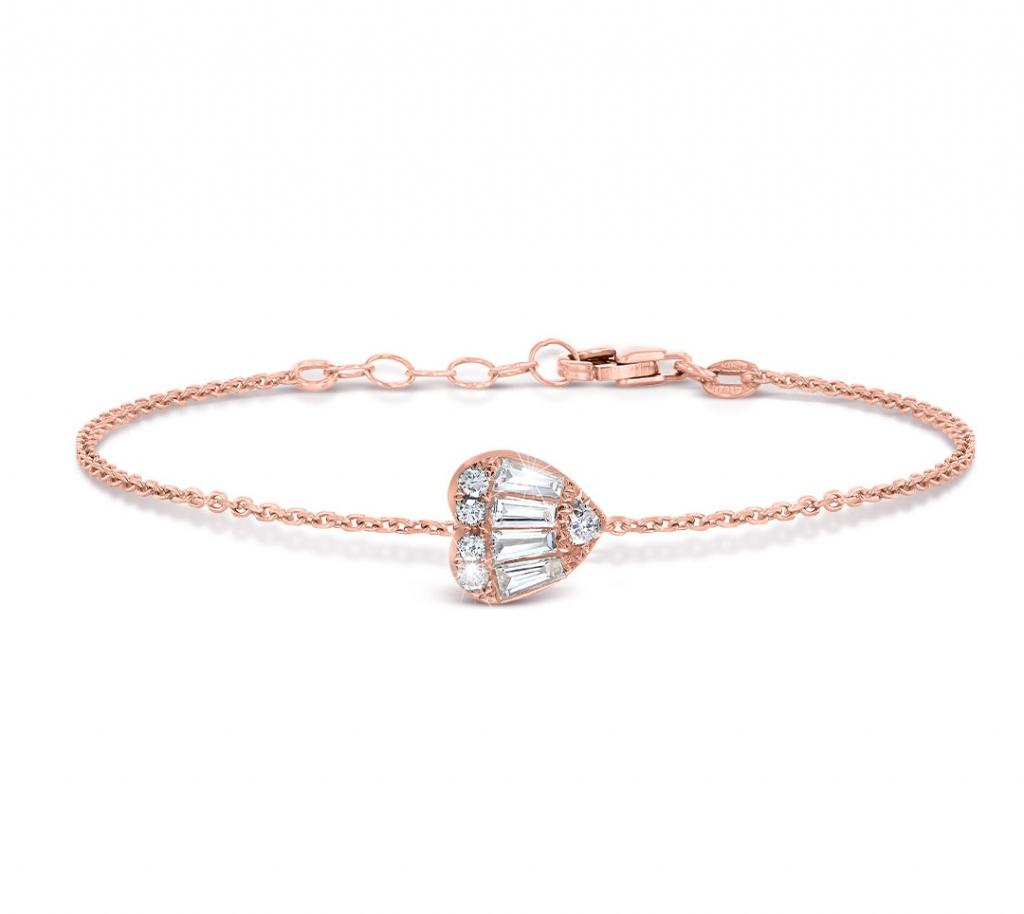 Baguette Heart Bracelet RG