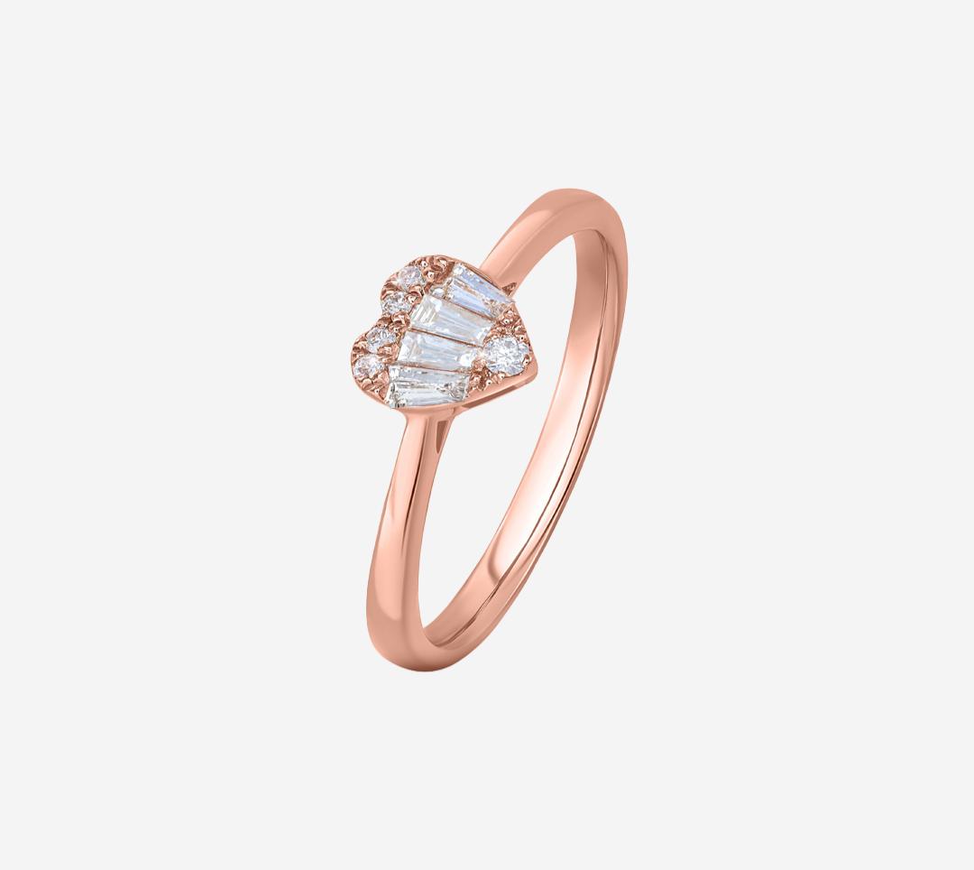 Baguette Heart Ring  RG